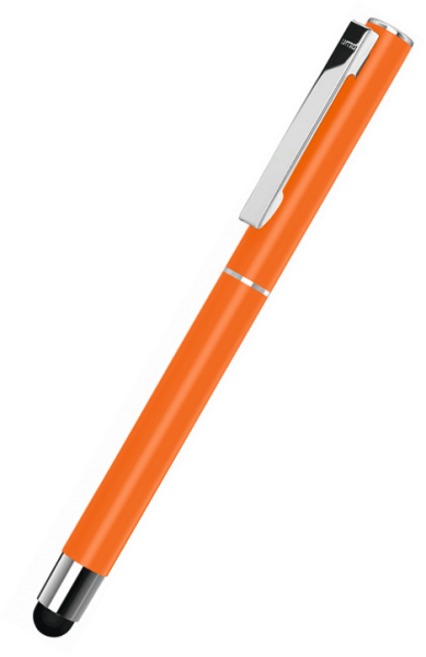 UMA Metall-Rollerball Touchpen STRAIGHT SI R TOUCH 0-9452 SI R TO Orange