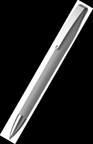 KLIO-ETERNA Kugelschreiber Cobra softgrip MMs 41070 Hellgrau CSG