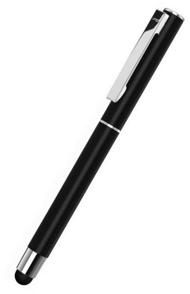 UMA Metall-Rollerball Touchpen STRAIGHT SI R TOUCH 0-9452 SI R TO Schwarz